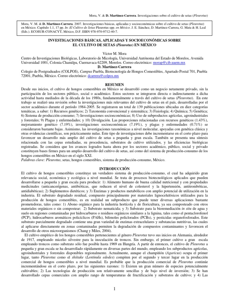 cultivo de hongos setas pdf