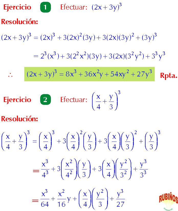 binomio por binomio ejercicios pdf