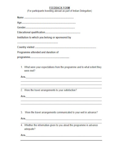 booking form for travel agency pdf