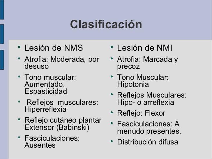 clasificacion de lesiones de segunda motoneuron pdf