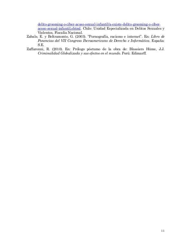 delito acoso sexual chile pdf