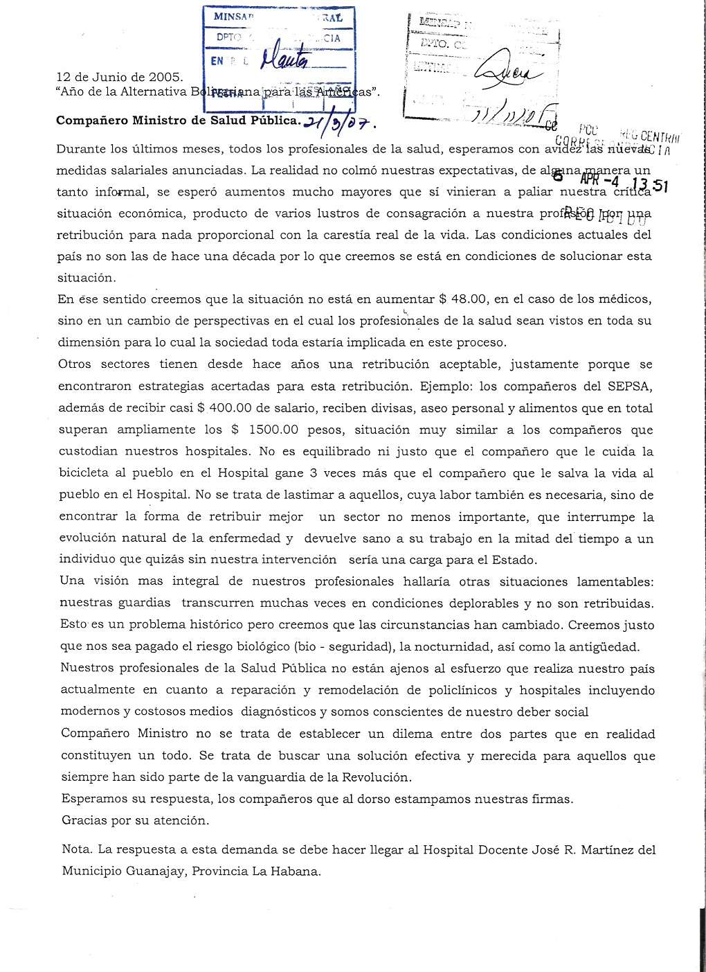 carta solicitud aumento de grado