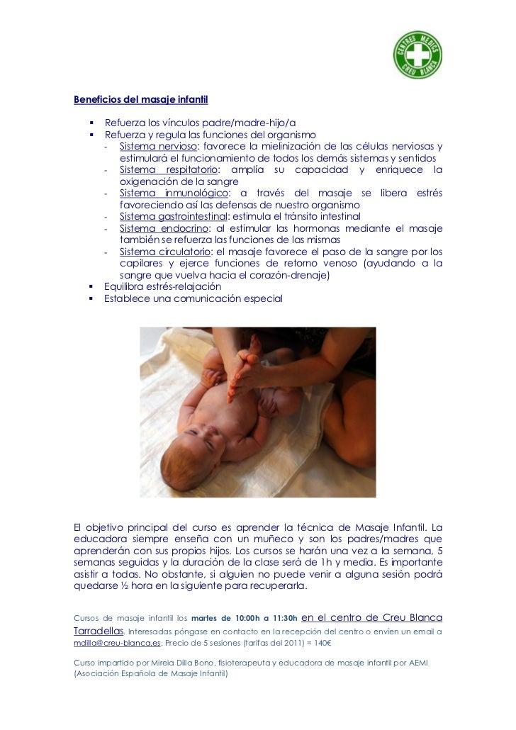 beneficios del masaje infantil pdf