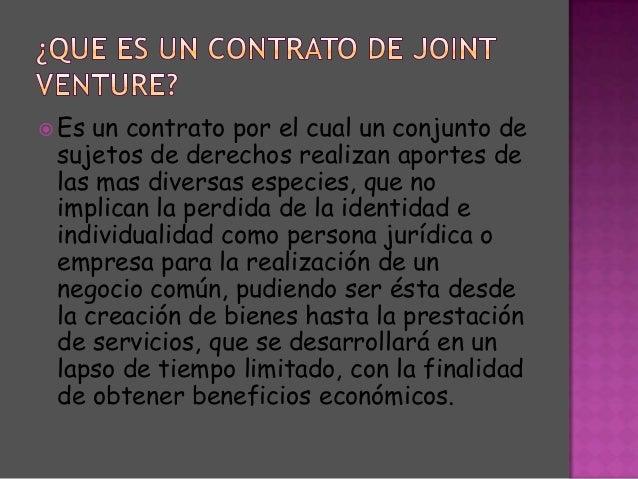 contrato de joint venture pdf