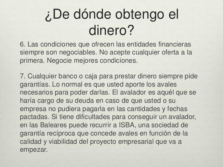 condiciones para optar a créditos en bancos