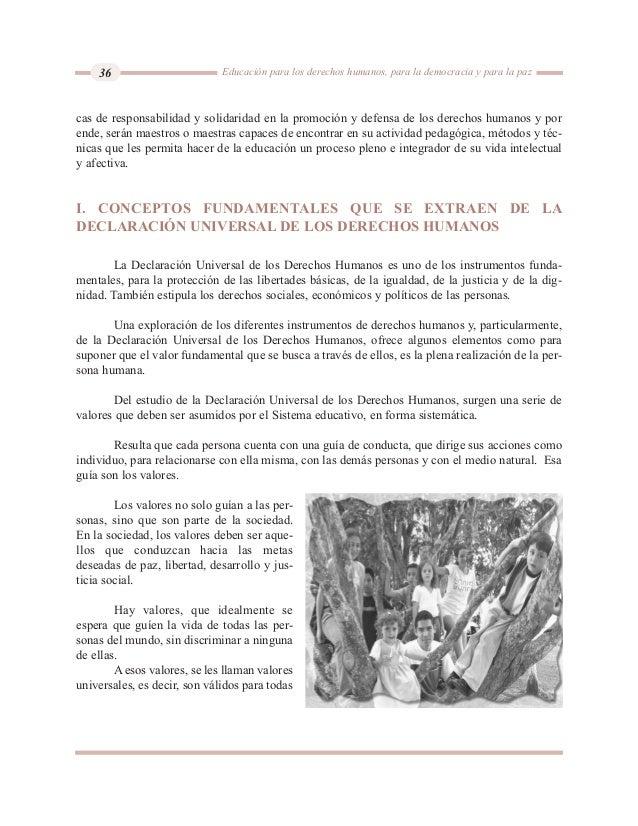 conceptos fundamentales de derechos humanos para la educacion pdf