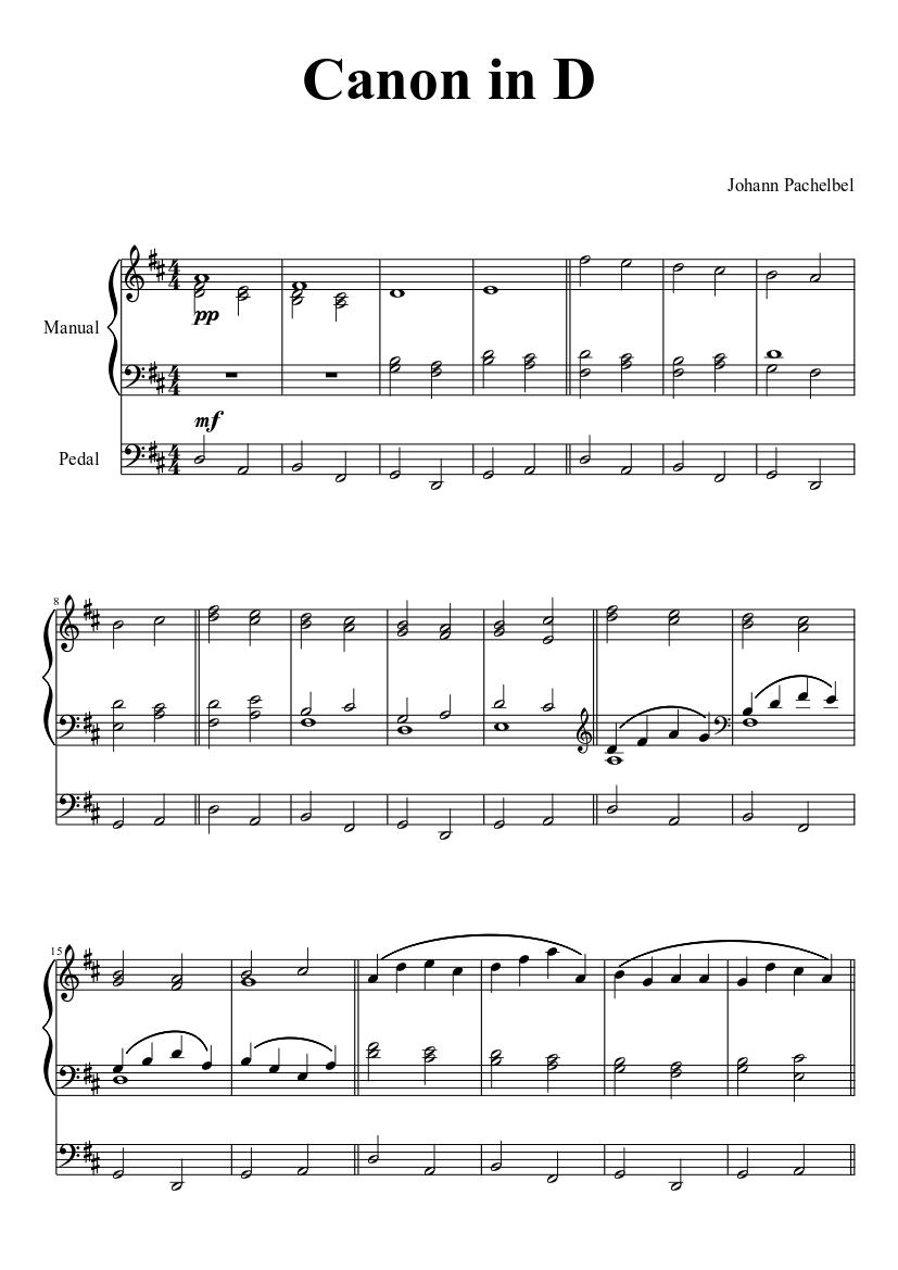 canon d pachelbel piano pdf