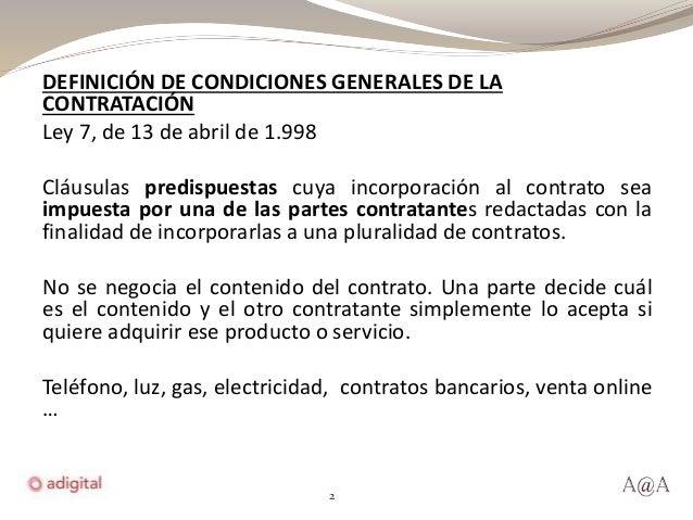 bases y condiciones generales de