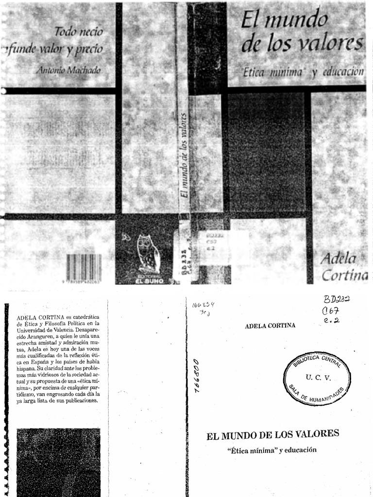 adela cortina el quehacer etico pdf