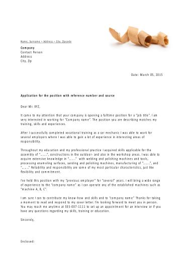 carta de solicitud de empleo plantilla