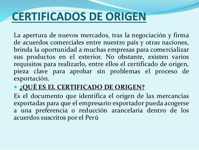 certificado de origen peru pdf