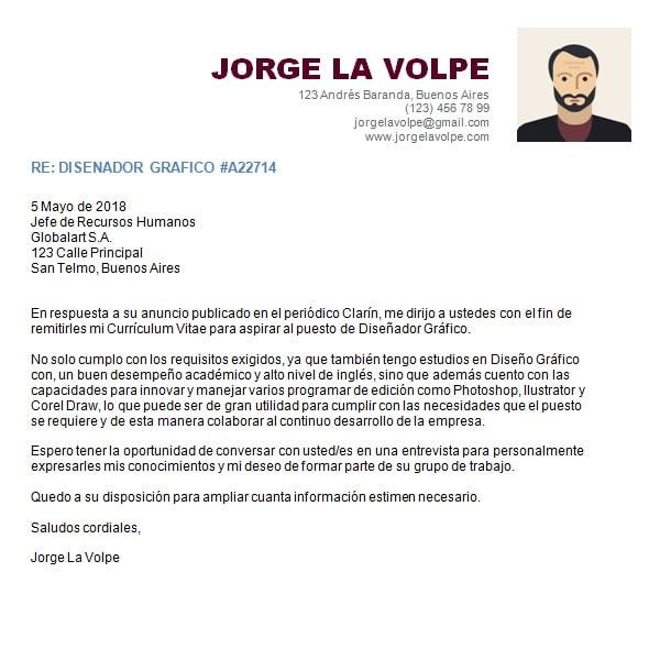 carta de presentacion para un trabajo pdf