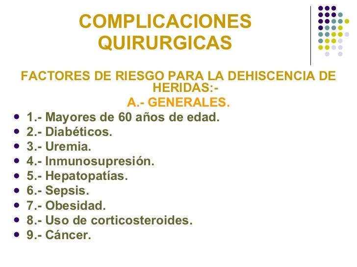 complicaciones de las cirugias abdominales pdf