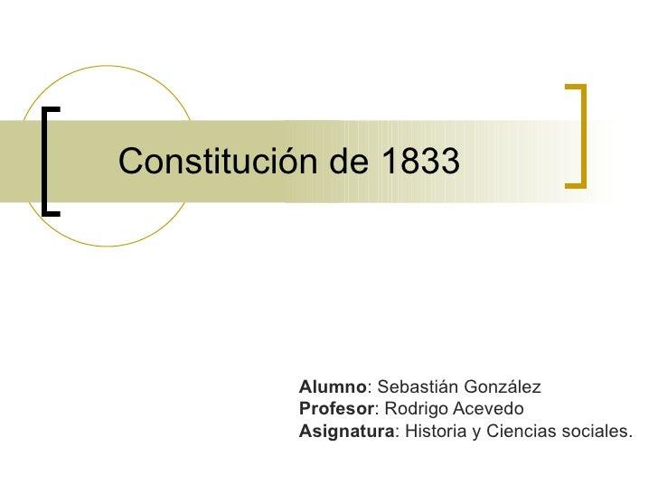 constitucion de 1833 condiciones para votar